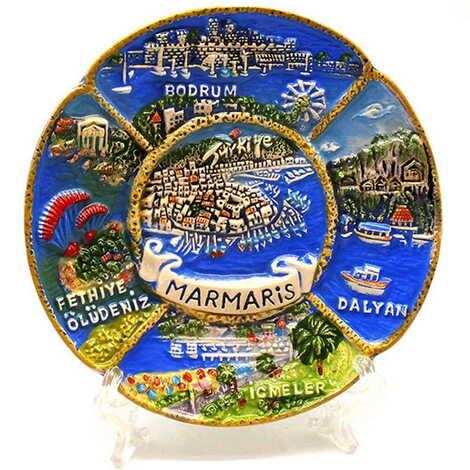 Seramik Marmaris Karma Tabak 10 cm