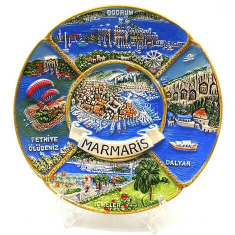 Seramik Marmaris Karma Tabak 15 cm