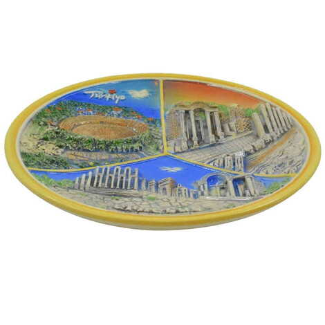 Seramik Turuncu Efes Tabak 20 cm