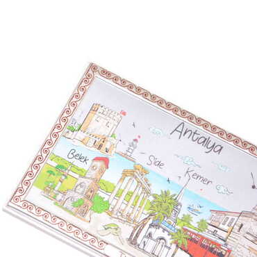 Tablo Antalya Beyaz 78x125 mm - Thumbnail
