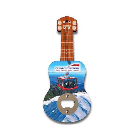 Teleferik Temalı Myros Ahşap Gitar Açacak Magnet 200x89 mm