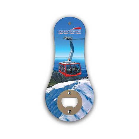 Teleferik Temalı Myros Ahşap Klasik Açacak Magnet 170x79 mm